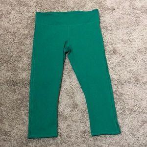 Fabletics Green Cutout Capri Leggings